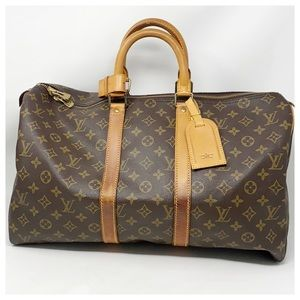 Authentic Louis Vuitton Monogram Keepall 45